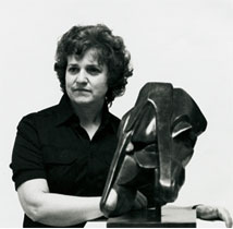 Doreen Collins with Sculpture